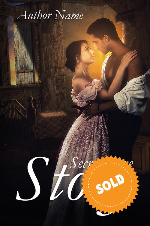 cover of the historical novel, premade romantic genre of premadebookcoversmarket.com