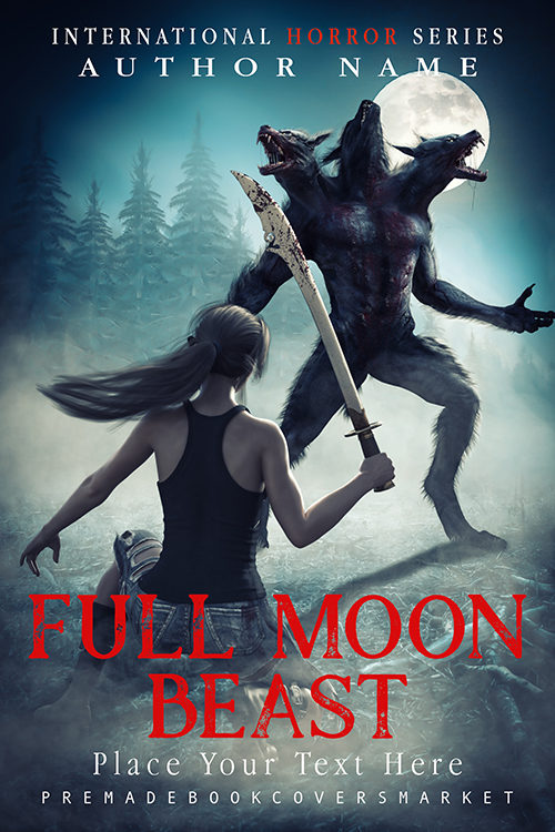 premade cover horror category book. Cover of premadebookcoversmarket.com