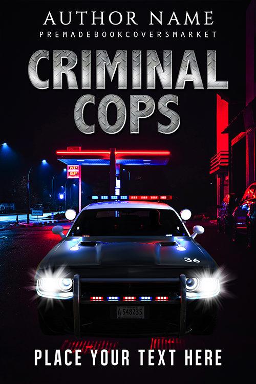 thriller cover, Thriller, killer, car police. of premadebookcoversmarket.com