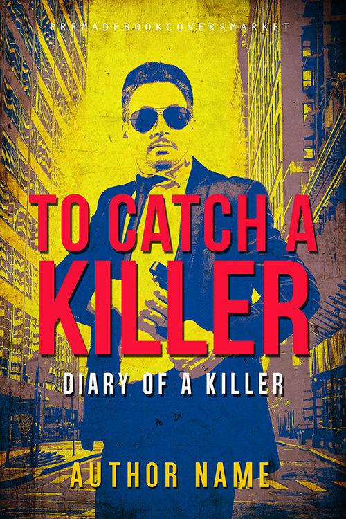 thriller cover, action genre, detective story. by premadebookcoversmarket.com