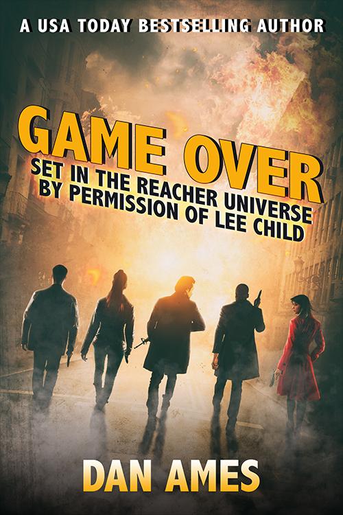 Dan Ames, thriller book covers,