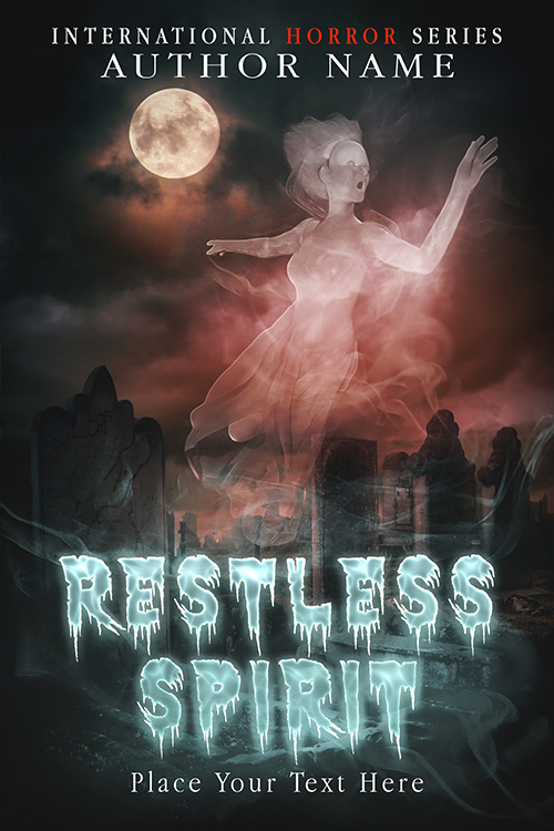 premade covers. horror category, ghosts. By premadebookcoversmarket.com